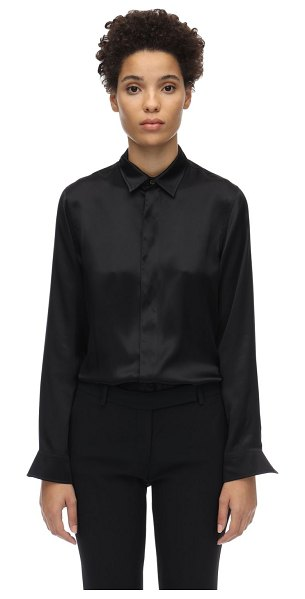 Balenciaga Fitted satin shirt in black