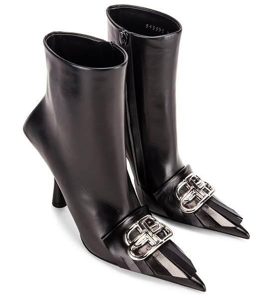 Balenciaga fringe knife booties in black & silver