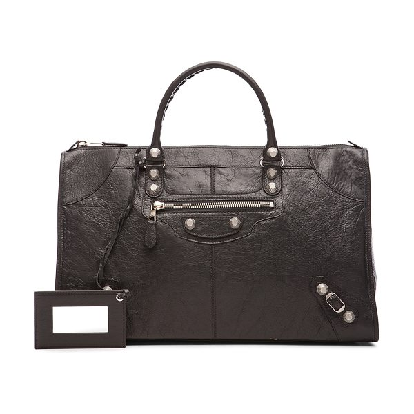 "BALENCIAGA Giant 12 Work - ""Shiny lambskin leather with fabric lining and..."