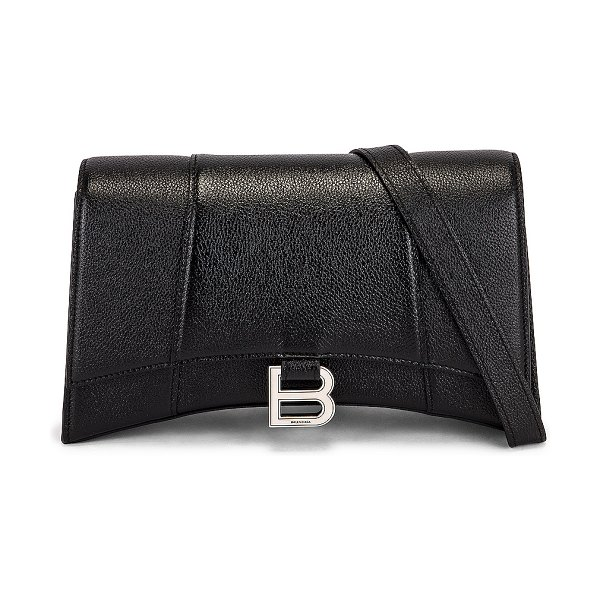 Balenciaga hourglass sling bag in black