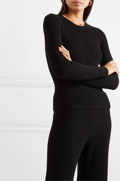 Balenciaga ribbed-knit top in black