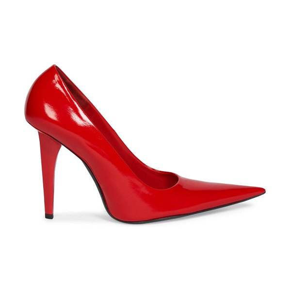 Balenciaga shark knife patent leather pumps in red masai