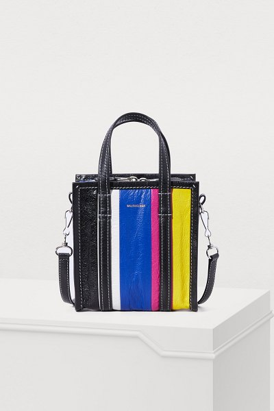 "Balenciaga XXS ""Bazar"" shopping bag - Balenciaga takes a fun new approach to a classic with..."