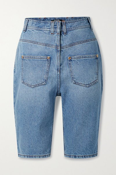 Balmain denim shorts in blue