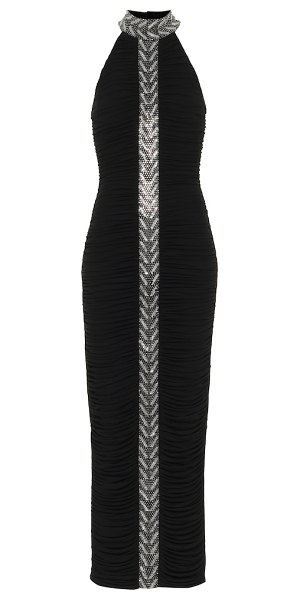 Balmain embellished gown in black