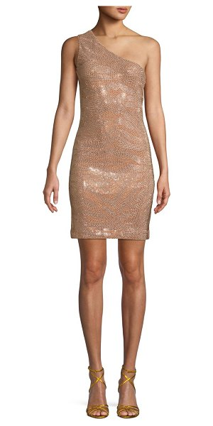 Balmain Embellished Mini Dress in bronze