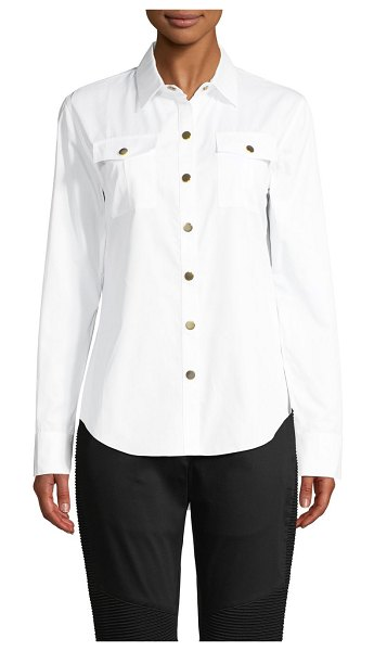 Balmain Spread-Collar Cotton Shirt in white