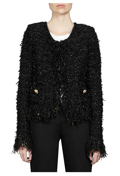 Balmain tweed blazer in black
