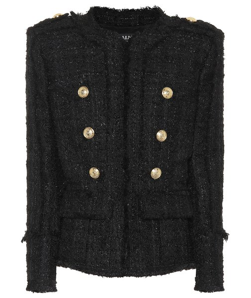 Balmain Tweed blazer in black - Invest in a signature silhouette from the glamorous...