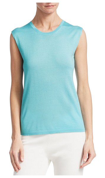 Barbara Lohmann bea sleeveless top in laguna - Minimalist sleeveless top finished in form-fitting...