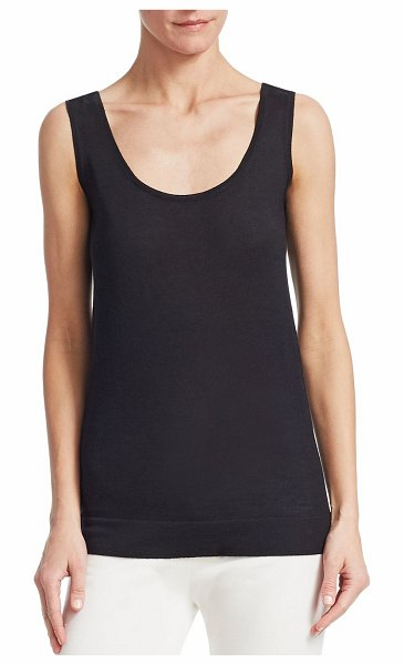 Barbara Lohmann hera solid silk-blend tank in black - Simple silk-blend tank elevated with structured hem....