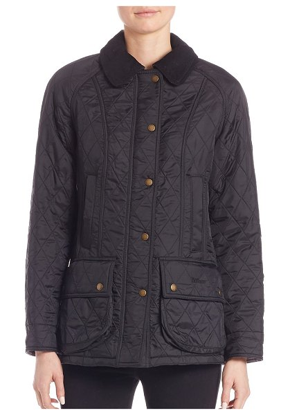 Barbour beadnell polarquilt jacket in black