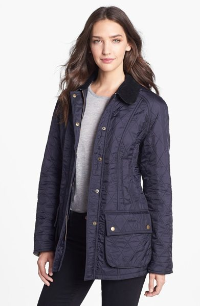 Barbour beadnell quilted jacket in navy/ navy