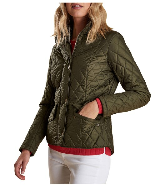Barbour Cavalry Featherweight Diamond-Quilted Jacket in olive