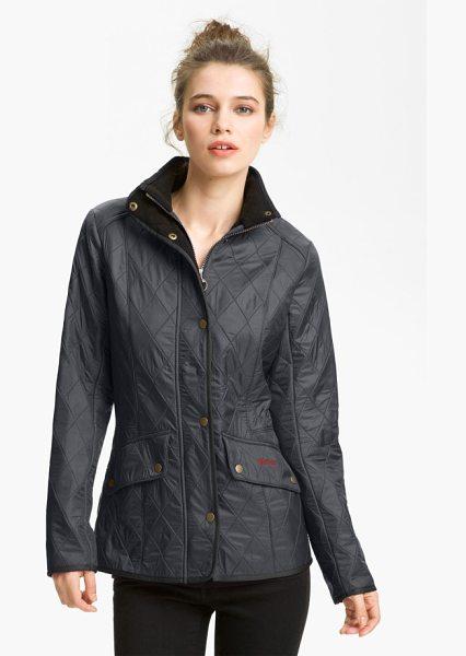 Barbour cavalry diamond quilted jacket in navy