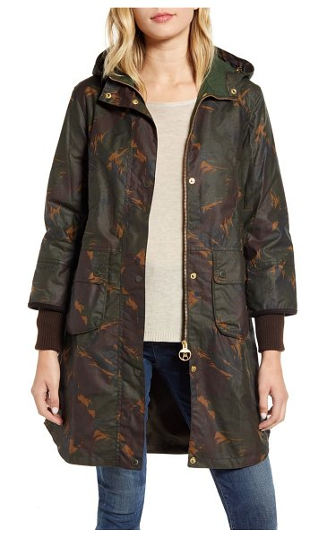 Barbour featherwood warbler wax cotton coat in feather/ duffle bag