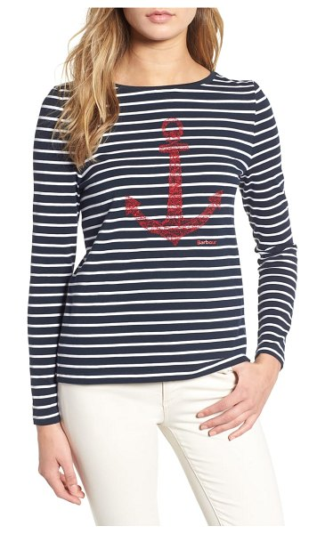 Barbour frinton stripe tee in blue - Show off your love for everything nautical in this...