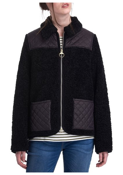 Barbour Hazel Barbour x Alexa Chung Quilted Jacket in black