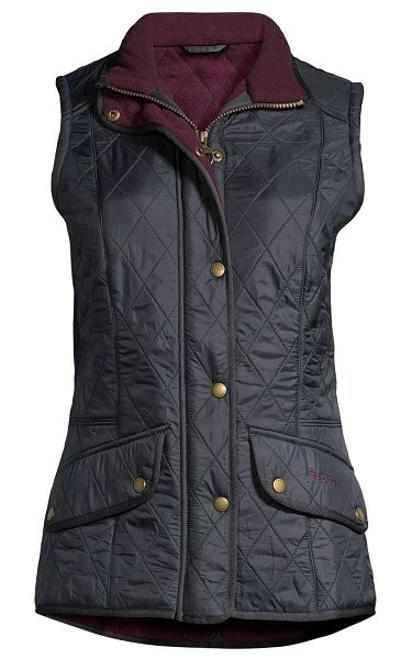 Barbour must haves cavalry quilted vest in navy merlot