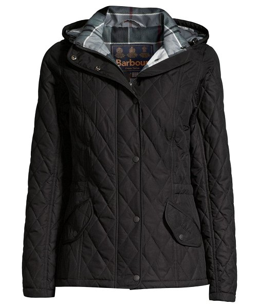 Barbour must haves millfire quilted jacket in black juniper