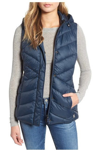 Barbour seaward hooded vest in navy - An optional hood maximizes the versatility of a...