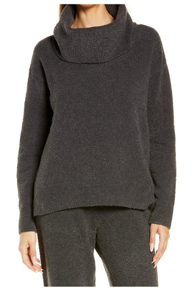 Barefoot Dreams barefoot dreams(r) ecochic(tm) cowl neck pullover in carbon