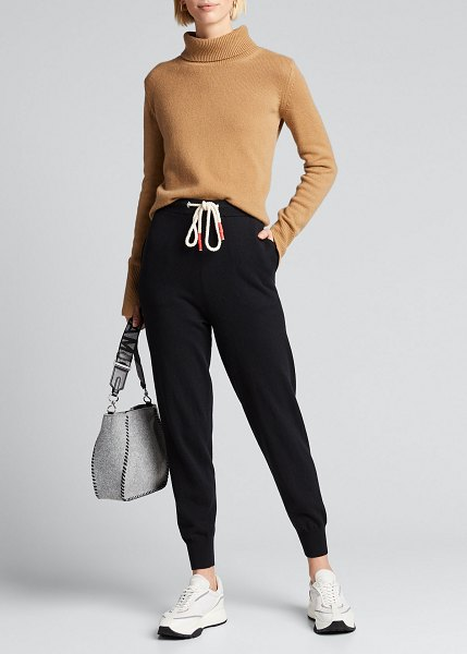bassike Cotton Knit Track Pants in black