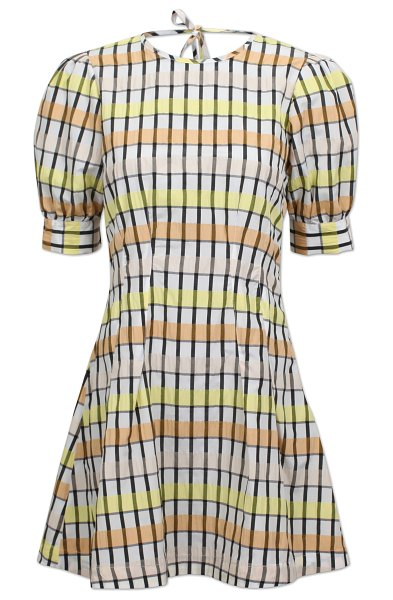 Baum Und Pferdgarten aurelia puffy short sleeve dress in multi