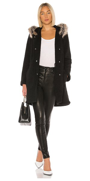BB Dakota coat to cozy coat in black