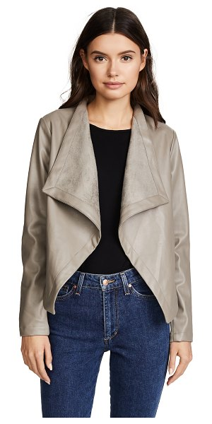 BB Dakota peppin vegan leather drapey jacket in toffee