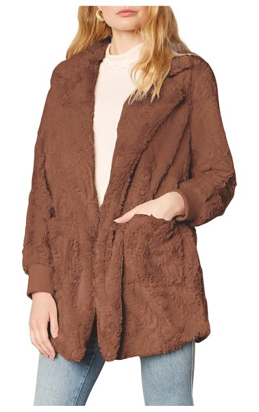 BB Dakota swirl next door faux fur jacket in toffee