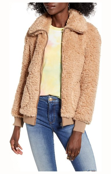 BB Dakota teddy or not faux fur bomber jacket in camel