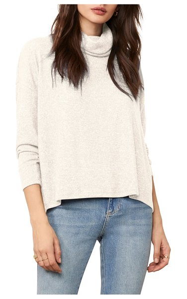 BB Dakota warm me up cowl neck top in ivory