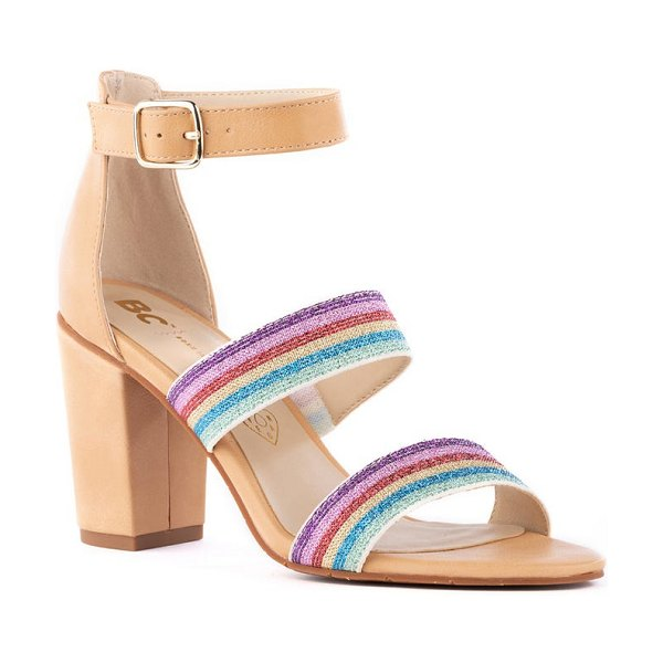 BC Footwear justified ankle strap sandal in rainbow/ vacchetta v-leather