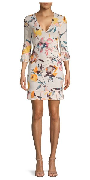 BCBGeneration Floral Faux Wrap Dress in multi