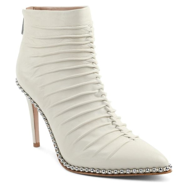BCBGeneration hinabi pointed toe bootie in bianca leather