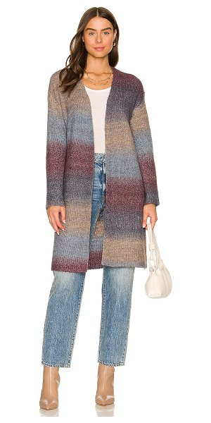 BCBGeneration sweater open cardigan in blue plum ombre