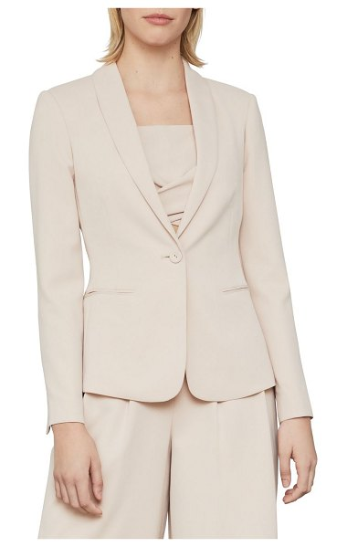BCBGMAXAZRIA Relaxed-Fit Twill Blazer in bare pink