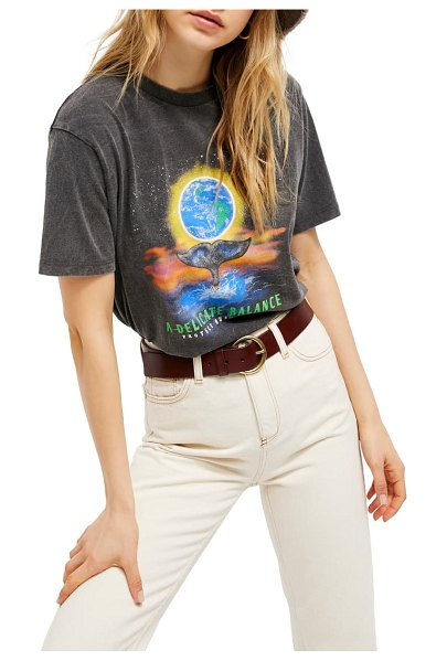 BDG Urban Outfitters a delicate balance boyfriend tee in washed black