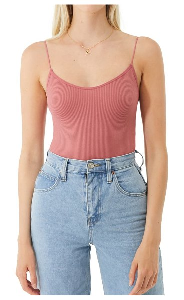 BDG Urban Outfitters bungee strap sleeveless bodysuit in raspberry