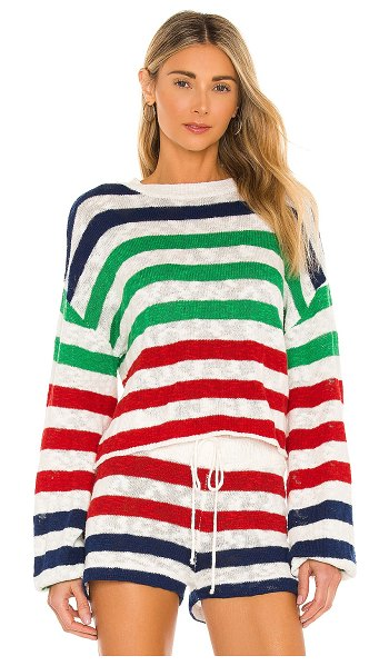 Beach Riot ava sweater in nautical stripe