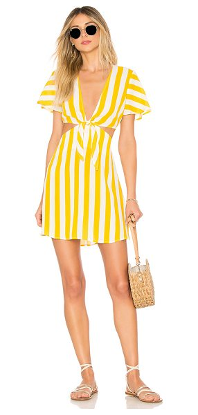 Beach Riot x REVOLVE Charlotte Dress in yellow - 100% viscose. Dry clean only. Unlined. Detached skirt...