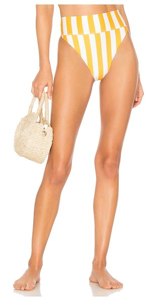 Beach Riot x REVOLVE Highway Bottom in yellow - Poly blend. Hand wash cold. Stretch fit. BRIO-WX554....