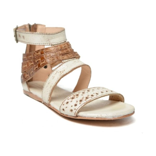 Bed Stu artemis cage sandal in tan leather