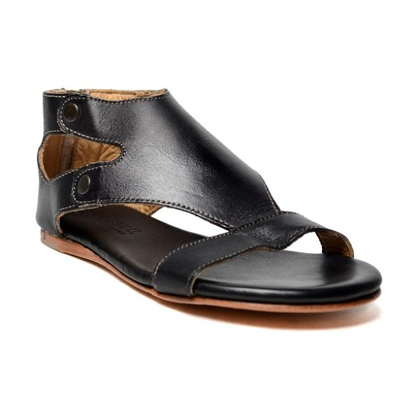 Bed Stu soto sandal in black rustic leather