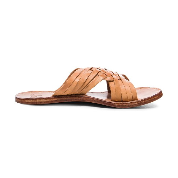 Beek Leather Swallow Sandals in neutrals - Vegetable tanned leather upper and sole.  Made in...