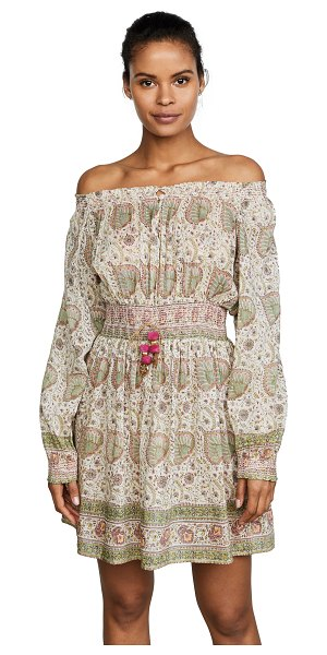 Bell printed dress in 12 - Fabric: Voile Smocked waist, cuffs, and neckline Bow,...