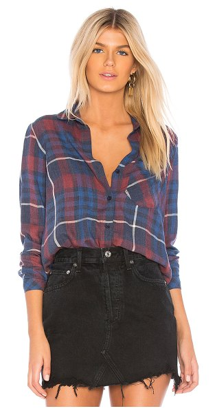 Bella Dahl Aurora Plaid Pocket Button Down in red