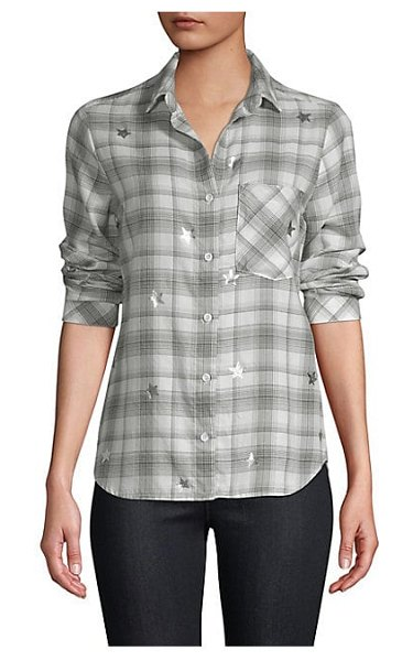 Bella Dahl plaid button-down shirt in black white - From the Saks IT LIST MAD FOR PLAID See the traditional...