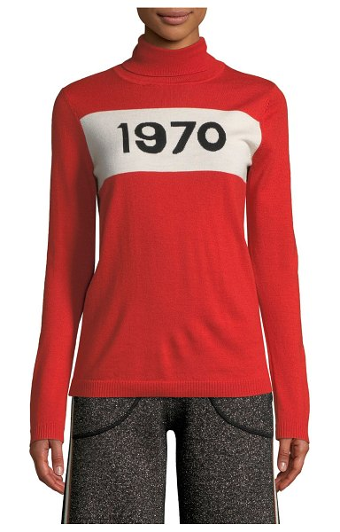 Bella Freud 1970 Graphic Pullover Sweater in red